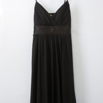 Y2K black babydoll mini dress with handkerchief hem, women's medium / small