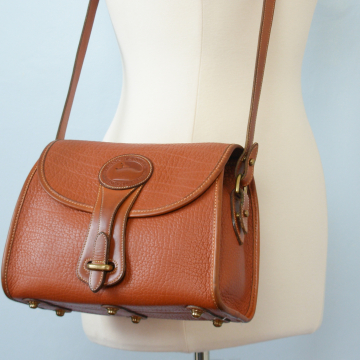 80's Dooney and Bourke medium Essex British tan crossbody purse