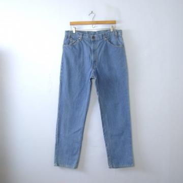 Vintage 80's Levi's 509 jeans, straight leg blue denim jeans, men's size 38