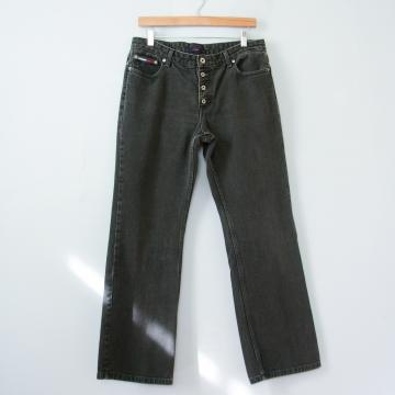 90's Tommy Hilfiger black boot cut jeans, women's size 10 / 12