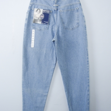 Vintage 80's Brittania NWT high waisted blue jeans with tapered leg, women's size 12 / 10