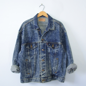 80's Levi's acid wash denim jacket, men's large