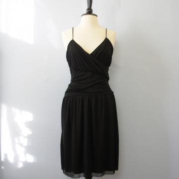 Y2K plain black dress, women's large / medium