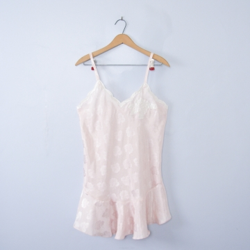 Vintage 80's Victoria's Secret pink floral slip dress camisole, women's size medium