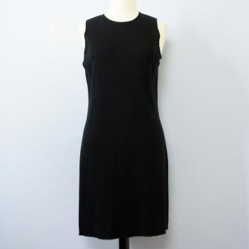 90's INC merino wool black mini dress, women's large