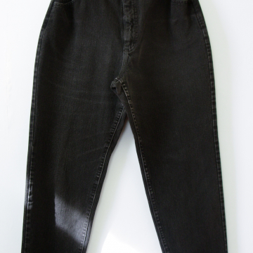 80's Lee high waisted black jeans with elastic waist, women's size 12 / 14