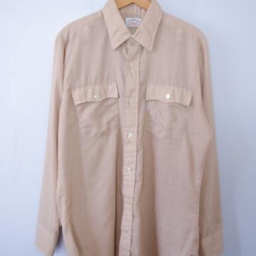 Vintage 80's Levi's plaid western shirt with pockets, men's size large