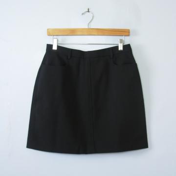 90's black mini skirt with pockets, women's medium
