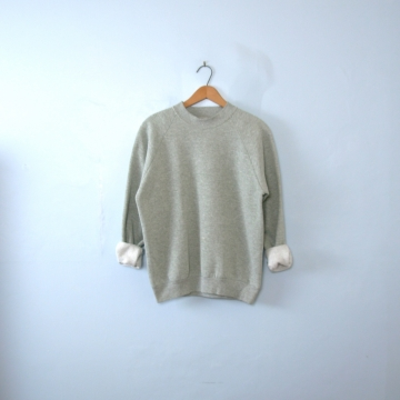 Vintage 90's distressed plain grey sweatshirt, men's size medium / small