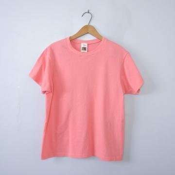 Vintage 90's plain peach pink tee shirt, men's size small