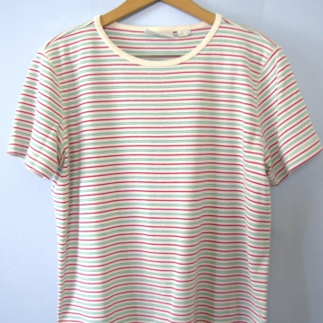 Vintage 90's striped tee shirt, women's size large
