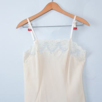 70's cream and lace camisole, women's size small