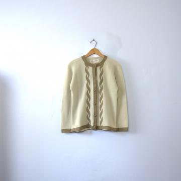 Vintage 50's Hadley full fashioned cardigan sweater, size medium