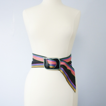 Vintage 80's Dior fabric waist belt, size medium / small