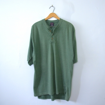 Vintage 90's distressed oversized grunge moss green tee shirt, men's size medium / large