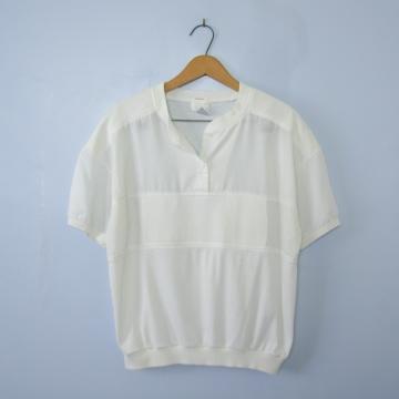 Vintage 80's white shirt, women's size medium