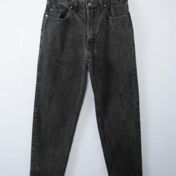 Vintage 80's GAP black jeans with tapered leg, men's size 36 / 34