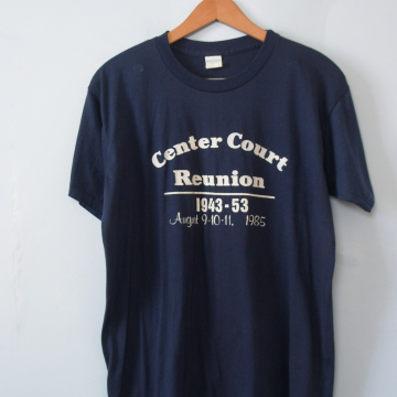 80's Center Court Reunion graphic tee shirt, men's size XL / large
