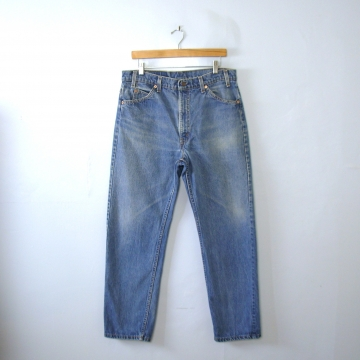 Vintage 80's Levi's 505 jeans, blue denim straight leg jeans, men's size 36 / 34