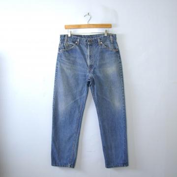 Vintage 80's Levi's 505 jeans, blue denim straight leg jeans, men's size 36 / 34