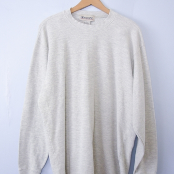 90's light grey thermal shirt long sleeved, men's large
