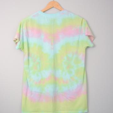 Y2K pastel tie dye tee shirt, size small
