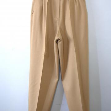 Vintage 90's camel wool pants, pleated trousers, women's size 10 / 8