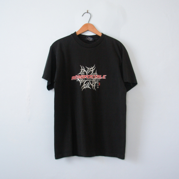 90's Aeropostale black graphic tee shirt, men's size small