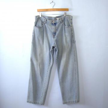 Vintage 90's grunge Levi's 577 carpenter jeans, loose fit boyfriend light denim jeans, women's size 16 / 14
