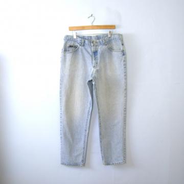 Vintage 80's Lee light denim tapered leg jeans, men's size 38