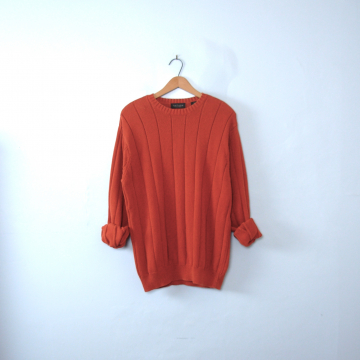 f6b7fae91e Vintage 90 s pumpkin orange sweater