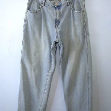 Vintage 90's grunge Levi's 577 carpenter jeans, loose fit boyfriend light denim jeans, women's size 16 / 14