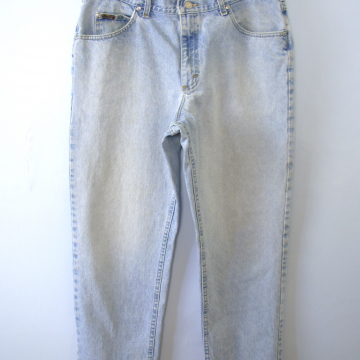 Vintage 80's Lee light denim tapered leg jeans, men's size 38