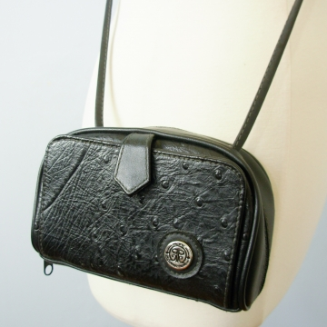 Vintage 80's super small black crossbody purse