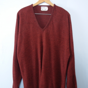 Vintage 40's Cincinnati maroon fleece sweater pullover, men's size 2XL plus sized