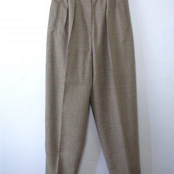 Vintage 90's houndstooth pleated wool pants / trousers, women's size 8 / 6