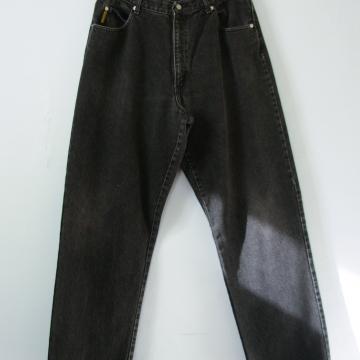 90's distressed Armani black denim jeans, men's size 34