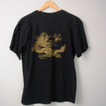 80's Chinese dragon tee shirt, size large