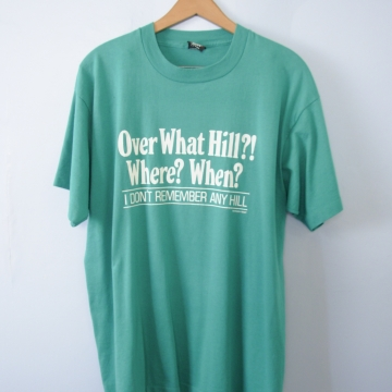 Vintage 80's over what hill graphic tee shirt, men's size XL
