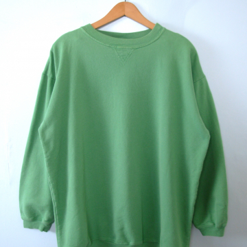 Vintage 80's light green plain sweatshirt, men's size medium