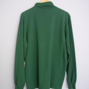 90's plain forest green turtleneck shirt, men's size XL