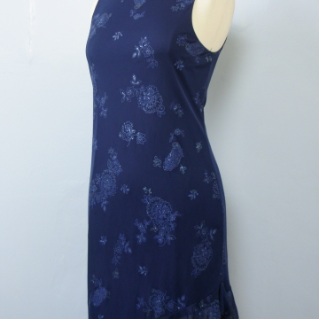 90's sparkly blue mini dress, women's large / medium