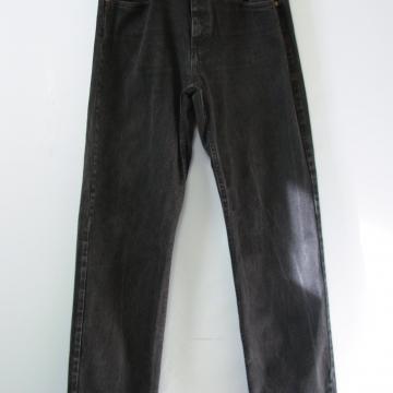 90's Wrangler black denim jeans straight leg, men's size 36