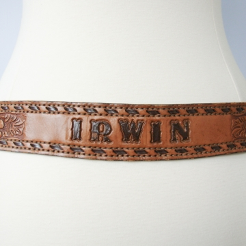 Vintage 90's Irwin name brown leather western belt, size 38 / medium