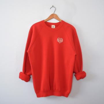 Vintage 80's Second Chance red sweatshirt, men's size XL