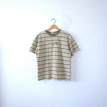 Vintage 90's Arizona green striped tee shirt, size medium
