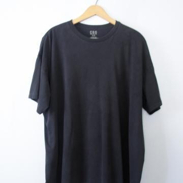 Vintage 90's plain black tee shirt, men's size XL