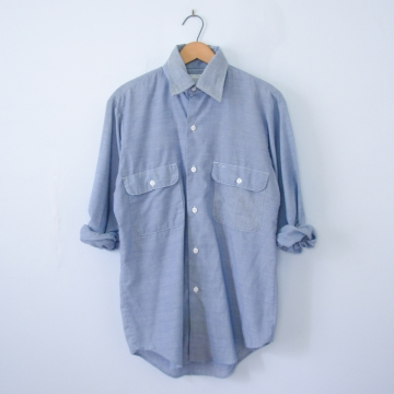 Vintage 70's chambray denim shirt, men's size small