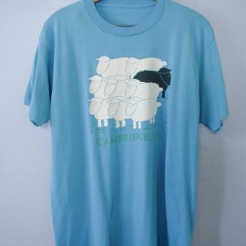 Vintage 80's black sheep graphic tee shirt, men's size large