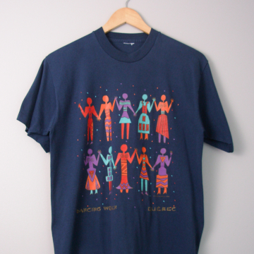 80's Quebec Dancing Women tee shirt, size medium